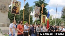 Учасники православної маніфестації, Кишинів, 19 травня 2018 року