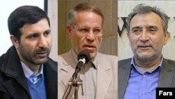 از راست به چپ: محمد دهقان، محمدحسین صادقی مقدم و هادی طحان نظیف