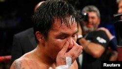 Филиппиндік кәсіпқой боксшы Мэнни Пакьяо. Лас-Вегас, АҚШ, 2 мамыр 2015 жыл.
