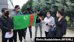 Акция протеста граждан Туркменистана в Стамбуле (Турция). 26 июня 2020 года.
