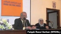 الشاعرة عاصمة عبد الرزاق في البيت الثقافي العراقي