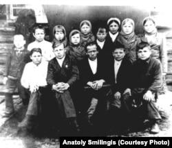 Дети спецпереселенцев в приюте, 1946