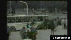 Snimak protjeranih civila nesrpske nacionalnosti iz Bijeljine