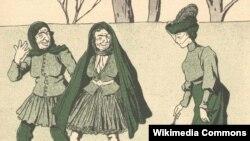 «Molla Nəsrəddin» jurnalında çap edilmiş karikatura