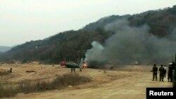 Вертоліт CH-53E, що зазнав аварії на полігоні Чхольвон, 16 квітня 2013 року