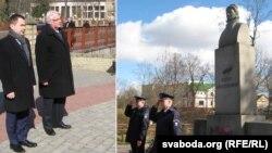 На фота зьлева — амбасадар Польшчы Конрад Паўлік і міністар Вітальд Вашчыкоўскі