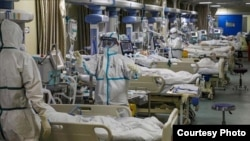 Expanded intensive care unit in an Iranian hospital. July 30, 2020