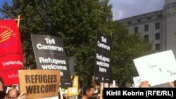 Лондон. Демонстрация в поддержку беженцев
