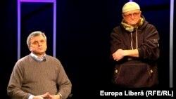 Igor Boțan cu Vasile Botnaru la o dezbatere în studioul Europei Libere