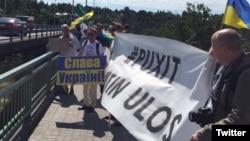 Акция против визита Путина в Финляндию – Puxit (Наантали, 1 июля 2016 года)