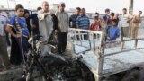 موقع انفجار سوق (مريدي) بمدينة الصدر ببغداد