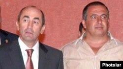 Роберт Кочарян (слева) и Гагик Царукян (архивная фотография)