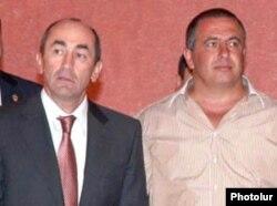 Armenia -- Former President Robert Kocharian (L) and Prosperous Armenia Party leader Gagik Tsarukian, undated