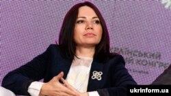 Голова комітету Верховної Ради України з питань свободи слова та інформаційної політики Вікторія Сюмар