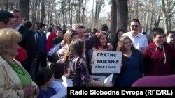 Претседателот Ѓорге Иванов учествува на Маршот за мир во Скопје.