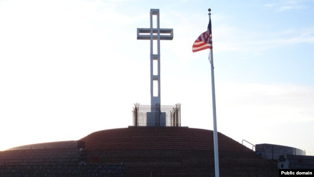 Спорный крест на холме Соледад. Ла-Хойя, Калифорния, США