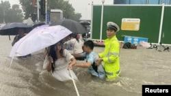 Përmbytjet në qytetin Zhengzhou të Kinës.