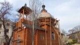 Biserica Sfânta Tatiana se construiește pe teritoriul campusului Universității transnistrene Taras Șevcenko, la Tiraspol, 11 aprilie 2021