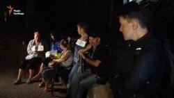 Савченко провела ніч разом із родичами незаконно затриманих українців