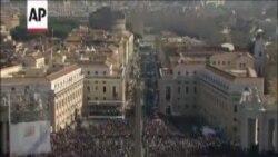 Последнее обращение папы Бенедикта XVI