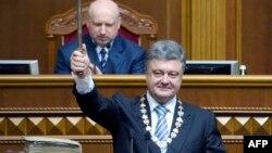 Петро Порошенко під час церемонії складання присяги президента у Верховній Раді України, 7 червня 2014 року