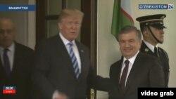 Donald Trump welcomes Shavkat Mirziyoev