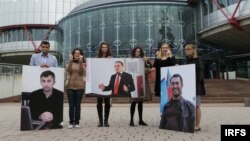 Avropa Şurası Parlament Assambleyası önündə etiraz aksiyası