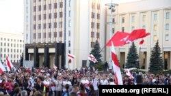 Акция протеста в Минске, 22 августа 2020 года.