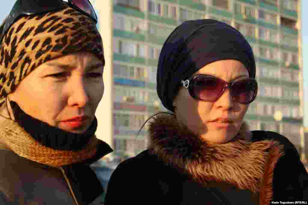 These residents of Aktau were symapthetic with the oil workers' protests.