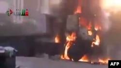 Бои в сирийском городе Хама
