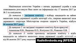 У день, коли комітет розглядав питання щодо посади держсекретаря МОЗ, Артем Янчук був відсутній