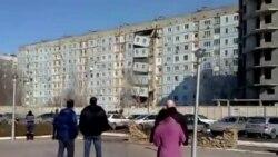 Обрушение подъезда жилого здания в Астрахани
