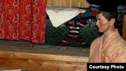 Галим себер татарларын өйрәнгән. Рәсемдә: себер татары кыяфәте. Омски музеенда төшерелгән.