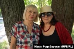 Людмила (слева), Днепр, 22 июля 2019 года