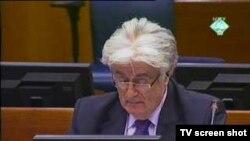 Optuženi za ratne zločine protiv čovječnosti, radovan Karadžić u Haškom tribunalu