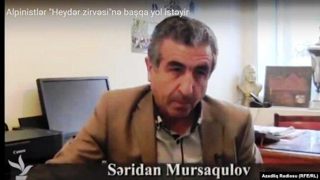 Həmkarlar İttifaqının Respublika Alpinist Turist Klubunun sədri Səridan Mursaqulov
