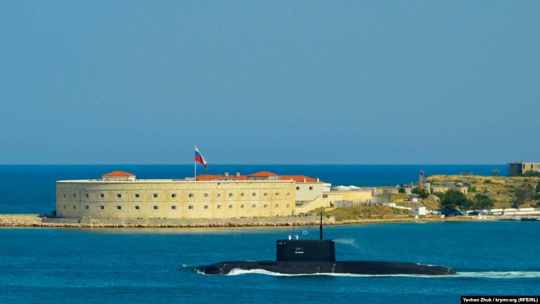 Підводний човен Чорноморського флоту Росі в Севастополі, серпень 2019