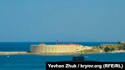 Подводная лодка Черноморского флота России в Севастополе, август 2019 года
