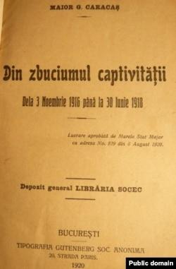 Memoriile lui Gheorghe Caracaș, Din zbuciumul captivității