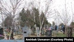 Виноградово (мурдагы Чалбасы) кыштагынын четиндеги православ көрүстөнү. 3.04. 2013