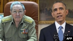 باراک اوباما و رائول کاسترو