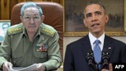 Президенттер Рауль Кастро жана Барак Обама
