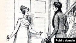"""Джейн Остин """"Гордость и предубеждение"""". Элизабет отказывает Дарси. Иллюстрация из Austen, Jane. Pride and Prejudice. London: George Allen, 1894. Художник Хью Томсон (1860-1920)"""