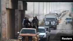 Колонна с гуманитарной помощью ООН в Сирии, 17 февраля 2016