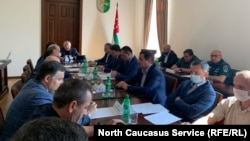 Заседание координационного штаба в Абхазии, 1 августа