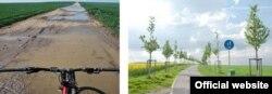 Дорога в Дольніх Брежанах до та після ремонту
