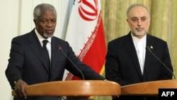 Кофи Анан и Али Салехи, Техеран, 11.04.2012