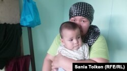 Гульбахыт Кызылташ, пострадавшая от потопа жительница Атырау. 18 мая 2015 года.
