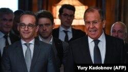 Գերմանիայի և Ռուսաստանի արտաքին գործերի նախարարներ Հեյկո Մաասը և Սերգեյ Լավրովը, արխիվ, Մոսկվա, 10-ը մայիսի, 2018 թ.