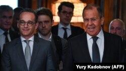 Сергей Лавров менен Хайко Маас. Москва, 10-май, 2018-жыл